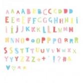 Set de lettres FUNKY COULEUR pour Lightbox