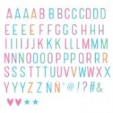 Set de lettres PASTEL pour Lightbox