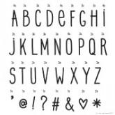 Set de lettres MANUSCRIT pour Lightbox