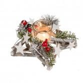 Composition de Noël avec photophore
