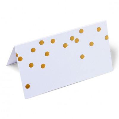 Marque place blanc pois dor s x8 - Modele de marque place a faire soi meme ...