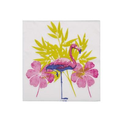 Serviettes flamant rose (x20)