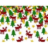 Confettis de Noël : rennes sapins étoiles