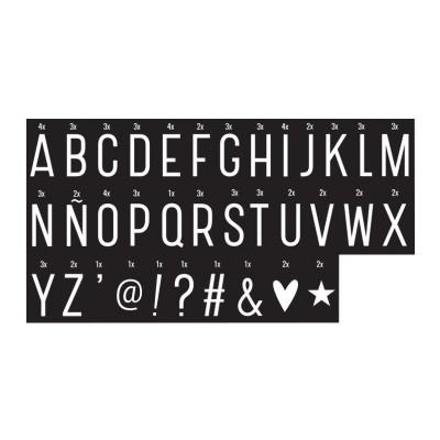 Set de lettres MONOCHROME pour Lightbox