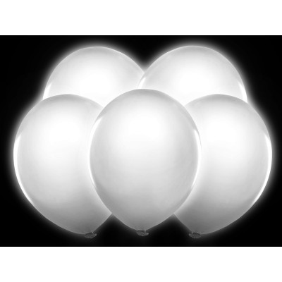 Ballons lumineux LED blancs (x5)