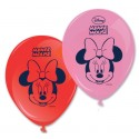 Ballons Minnie rose et rouge (x8)