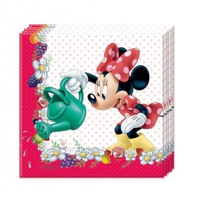 20 serviettes Minnie en papier 33 x 33 cm