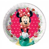 8 petites assiettes Minnie 20 cm