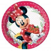 8 grandes assiettes Minnie 23 cm