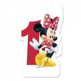 Bougie Minnie chiffre 1