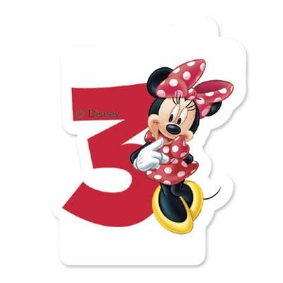 Bougie Minnie chiffre 3
