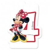 Bougie Minnie chiffre 4