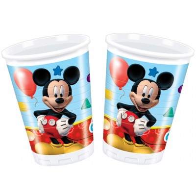 8 gobelets Mickey 20 cL Playful Mickey
