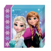20 serviettes la reine des neiges 33 x33 cm Frozen Lights