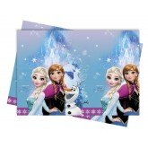Nappe anniversaire reine des neiges 120x180 - Frozen Lights