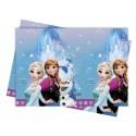 Nappe anniversaire reine des neiges 120x180 - Frozen Lights