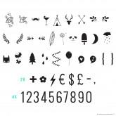 Set de lettres NOMBRES ET SYMBOLES pour Lightbox