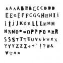 Set de lettres FUNKY BLACK pour Lightbox