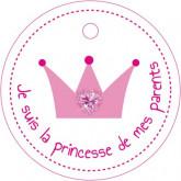 """Etiquette """"Je suis la princesse"""""""