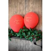 Ballons Joyeuses Fêtes (x8) rouge /or