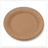 Assiettes en carton Kraft  Diam.18 cm ( x20)