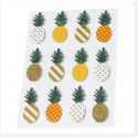Ananas sur stickers x 12