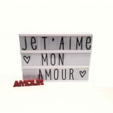 Lightbox A4 Blanche+ Set de 85 lettres ABC Pastel