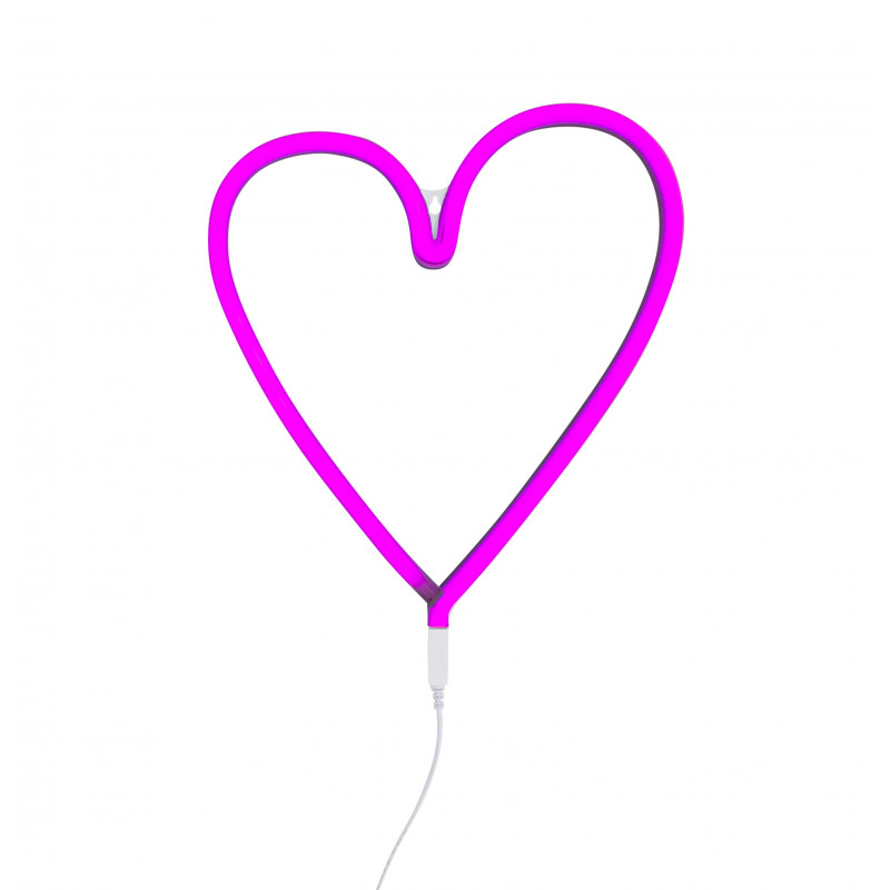 Lampe n on coeur rose for Neon pour chambre