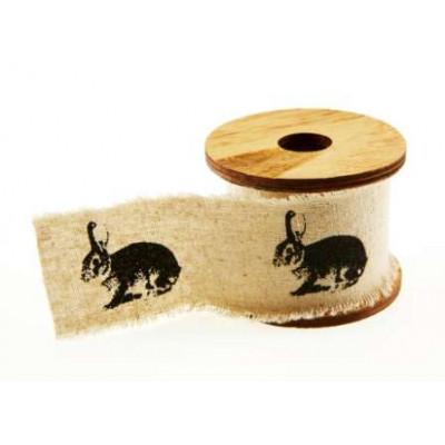 ruban en tissu avec impressions lapins