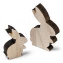 12 Petits Lapins en bois