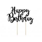Cake Topper Happy Birthday Noir