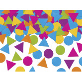 Confettis ronds et triangles multicolores