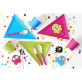 Assiettes triangles multicolores x 6