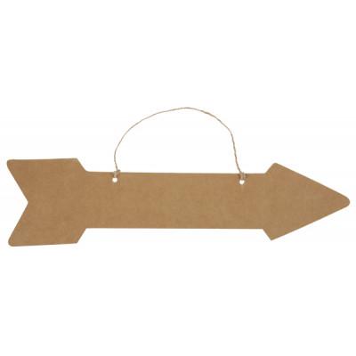 Flèche signalétique en Kraft