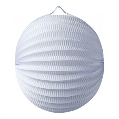 Lampion Boule Blanc 20 Cm
