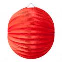 Lampion Boule Rouge 20 Cm