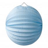 Lampion boule  Bleu ciel