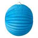 Lampion Boule Turquoise 20 Cm
