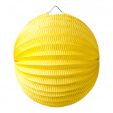 Lampion Boule Jaune 20 Cm