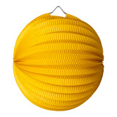 Lampion Boule Moutarde 20 Cm