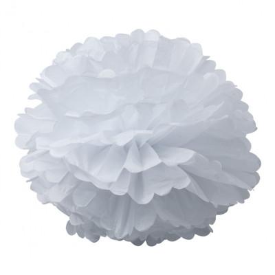2 Pompons Blanc