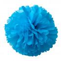 2 Pompons Turquoise 40 et 50cm