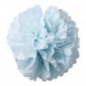 2 Pompons Bleu Ciel 40 et 50cm