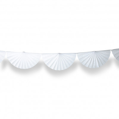 Guirlande éventail blanc 3 m