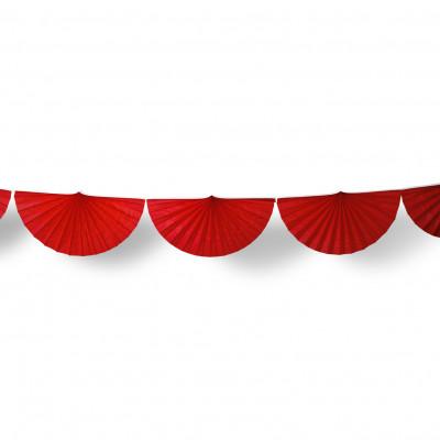 Guirlande éventail rouge 3 m