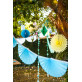 Guirlande éventail turquoise 3 m