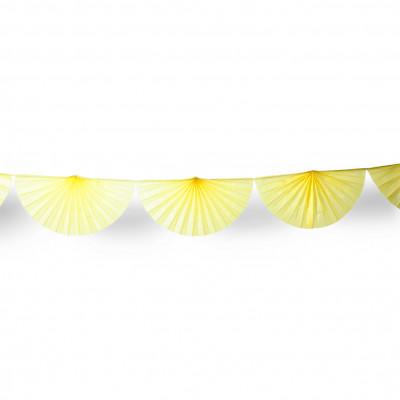 Guirlande éventail jaune 3 m