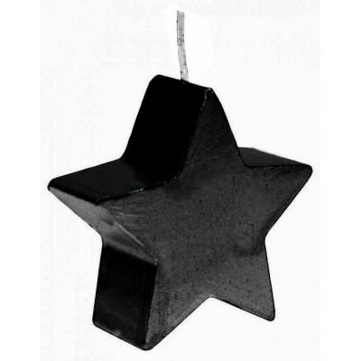 Bougie étoile noir 7,5 cm