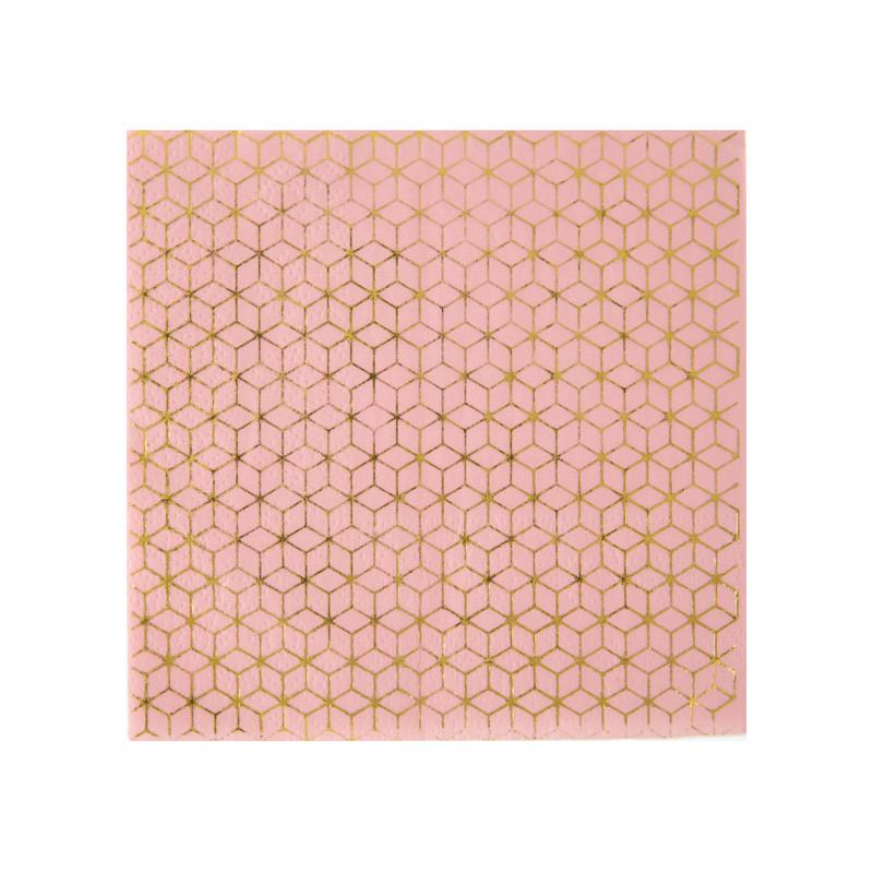 Serviettes carreaux de ciment cuivr es x 20 - Serviette de table carreaux ...