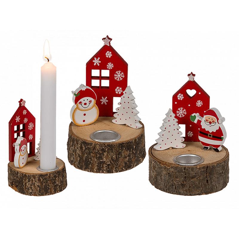 bougeoir de noel Bougeoir de Noël en bois   MaPlusBelleDeco.com bougeoir de noel